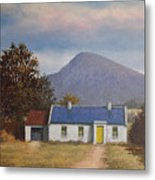 Irish Farmhouse Near Croagh Patrick Metal Print