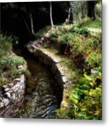 Irish Garden Stream Metal Print
