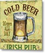 Irish Pub Metal Print