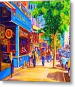 Irish Pub On Crescent Street Metal Print