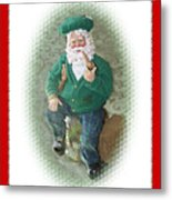 Irish Santa Card Metal Print