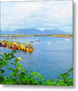 Roundstone Seaport Metal Print