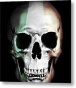 Irish Skull Metal Print