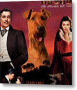 Irish Terrier Art Canvas Print - Gone To The Wind Movie Poster Metal Print
