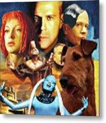 Irish Terrier Art Canvas Print - The Fifth Element Movie Poster Metal Print