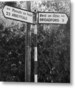 Irish Village Sign County Limerick. Metal Print