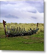 Irish Wreck Metal Print