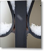 Iron And Snow Metal Print