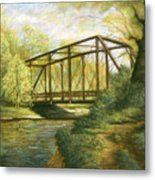 Iron Bridge Over Cicero Creek Metal Print