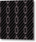 Iron Chains With Black Background Seamless Texture Metal Print