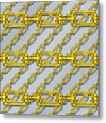 Iron Chains With Brushed Metal Seamless Texture Metal Print