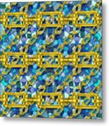 Iron Chains With Mosaic Seamless Texture Metal Print