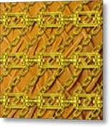 Iron Chains With Plush Texture Metal Print