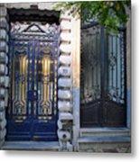 Iron Door Of Brussels Metal Print