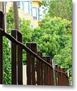 Iron Fence 2 Metal Print