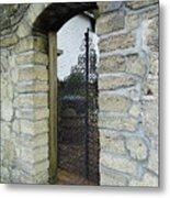 Iron Gate To The Garden Metal Print