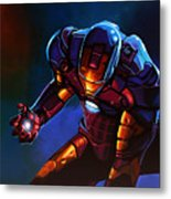 Iron Man Metal Print by Paul Meijering