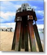 Iron Structure Metal Print