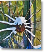Iron Wheel Metal Print