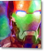 Ironman Abstract Digital Paint 1 Metal Print
