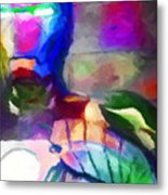 Ironman Abstract Digital Paint 3 Metal Print