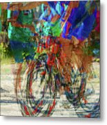 Ironman Bicyclist 2109 Metal Print by David Mosby