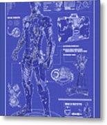 Ironman Patent Metal Print