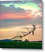 Irrigation Metal Print