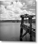 Irrigation Pond Metal Print