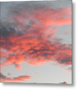 Is He Coming In The Clouds Metal Print