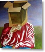 Is The Self Just An Empty Box Metal Print