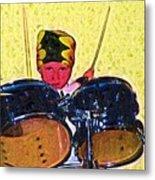 Isaiah The Drummer Metal Print
