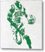 Isaiah Thomas Boston Celtics Pixel Art 2 Metal Print