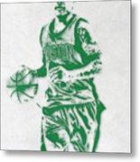 Isaiah Thomas Boston Celtics Pixel Art Metal Print