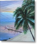 Isla Morada Sunset Metal Print