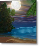 Island Beach Metal Print by Corey Ford