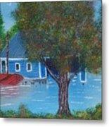 Island Boathouse Metal Print