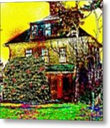 Island Cottage Metal Print