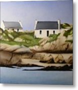 Island Cottages Metal Print