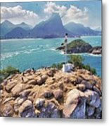 Island Lighthouse Metal Print