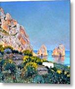 Island Of Capri - Gulf Of Naples Metal Print