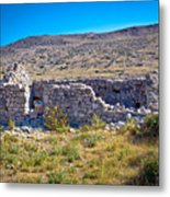 Island Of Krk Old Stone Ruins Metal Print