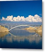 Island Of Pag Bridge And Velebit Mountain Metal Print
