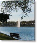 Island Park In Portage Metal Print