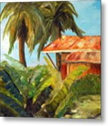 Island Sugar Shack Metal Print