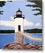 Isle Au Haut Lighthouse Metal Print