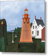 Isle La Motte Vermont Lighthouse Metal Print