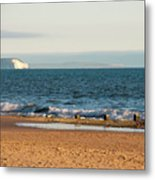 Isle Of Wight As Seen From Bournemouth Beach Metal Print