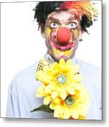 Isolated Clown In A Funny Summer Romance Metal Print