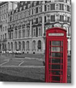 Isolated Phone Box Metal Print